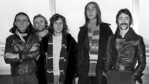 Genesis circa 1974. Guitarist Steve Hackett (right) would later moonlight in 118 118 adverts.